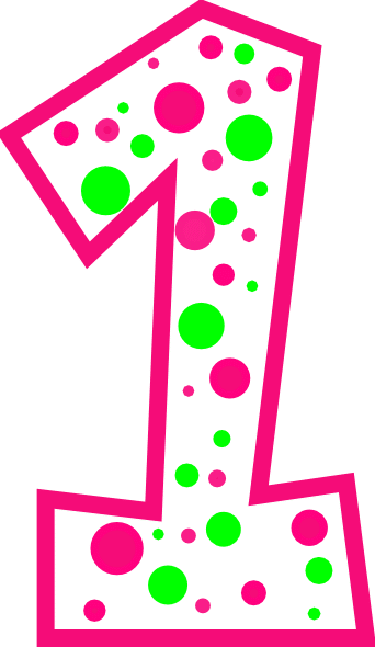 number-1-pink-and-green-polkadot-r-clip-art-at-clker-com-vector-o1m9i9-clipart